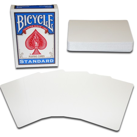 KARTE BICYCLE BLANK CARD BOTH SIDES