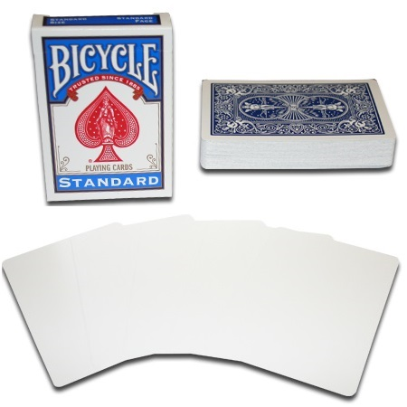 KARTE BICYCLE BLANK FACE BLUE BACK